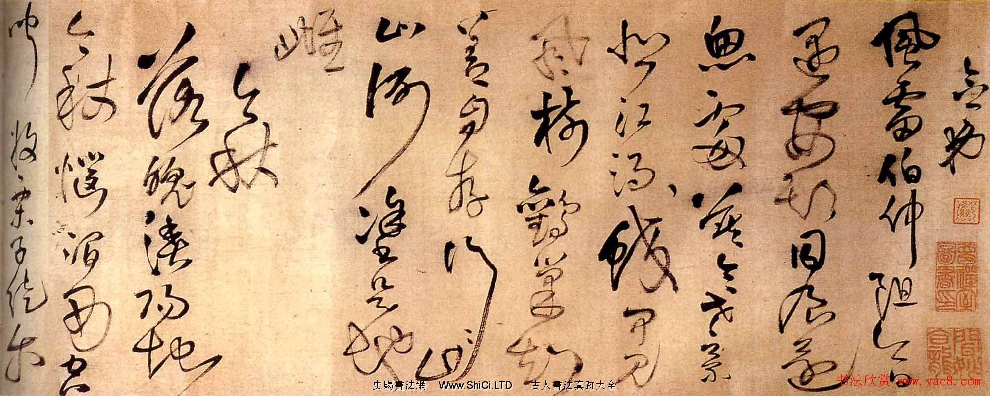 王鐸草書真跡欣賞《念弟風雷書法長卷》(共12張圖片)