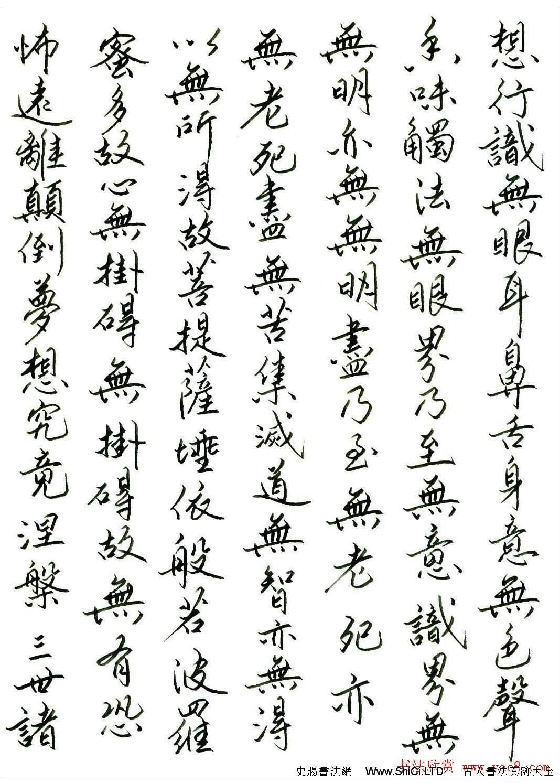 劉建華硬筆書法作品《心經》