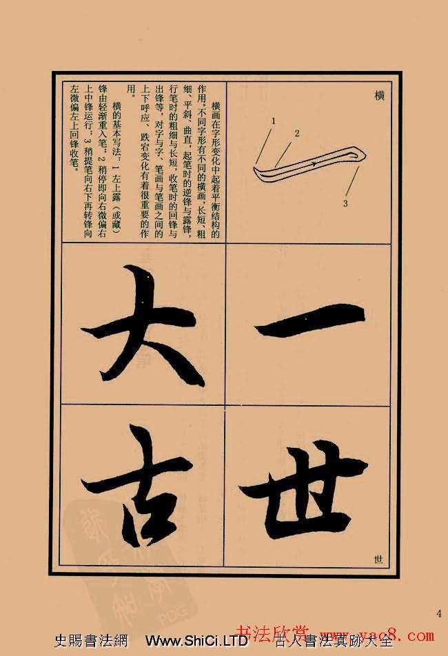 書法教程圖文字帖《蘭亭序筆法詳析》(共64張圖片)