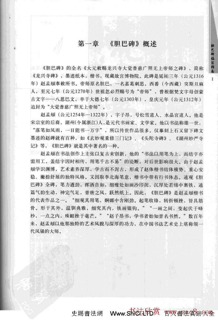 趙孟頫膽巴碑臨寫指南行楷字帖(共54張圖片)