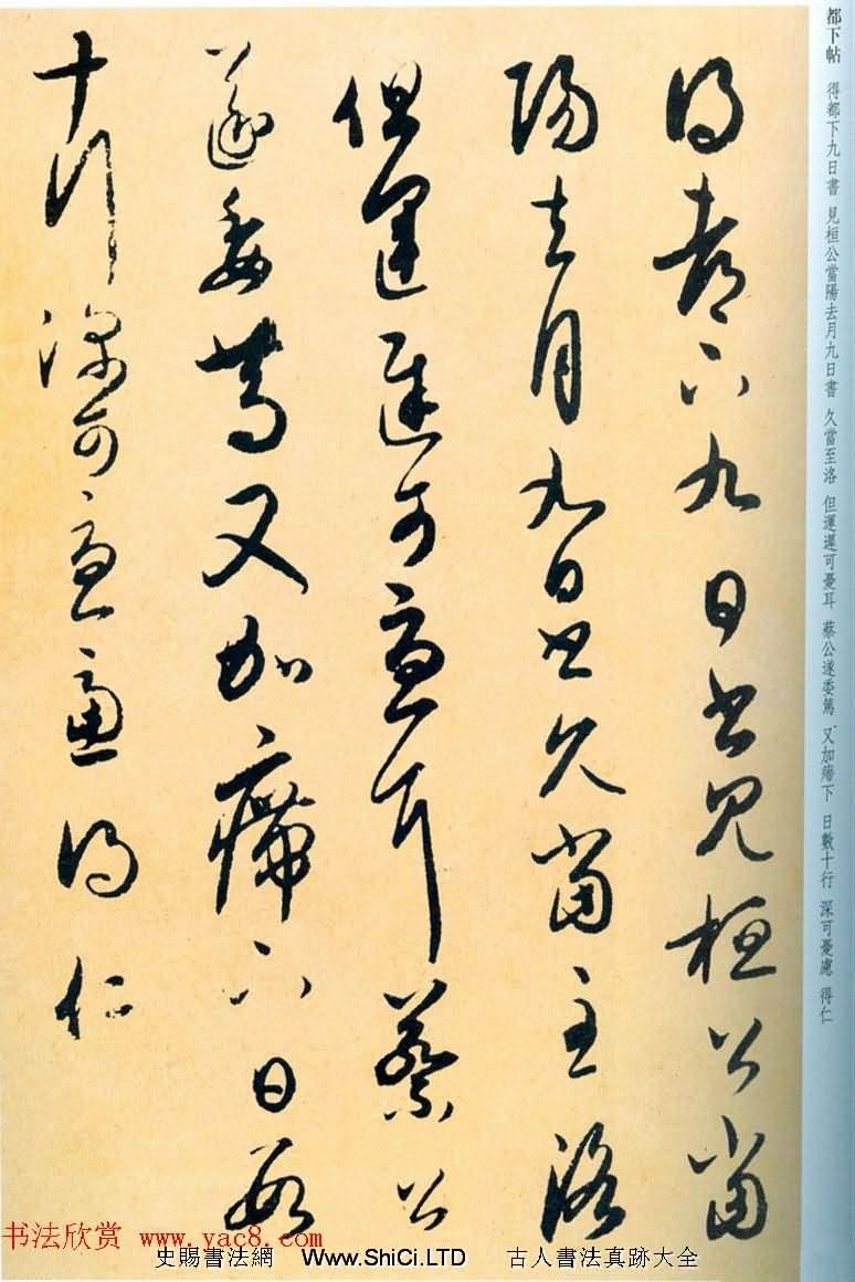 王羲之草書欣賞《桓公當陽帖》三種