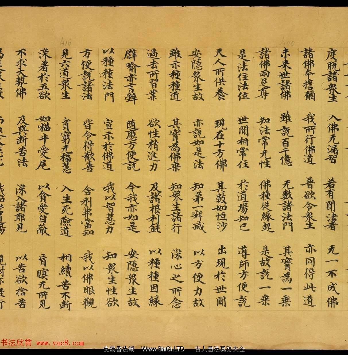 敦煌文獻欣賞《妙法蓮華經卷第一》俄羅斯科學院藏品