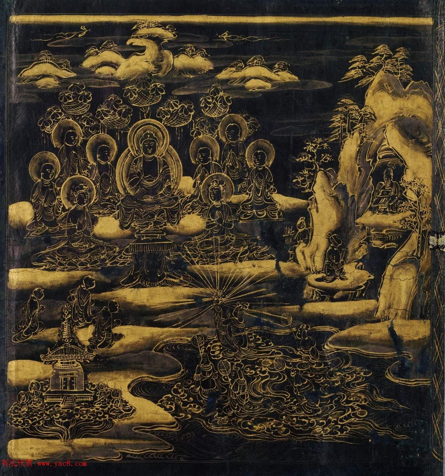 日本書法字帖《妙法蓮華經提婆達多品第十二》大都會藝術博物館藏(共19張圖片)