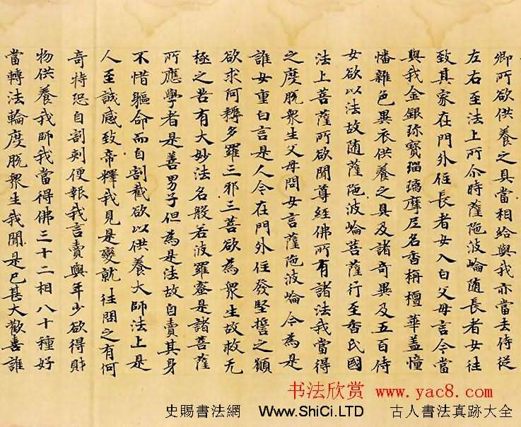 光明皇后題記《般若波羅蜜放光經》哈佛大學藝術博物館藏