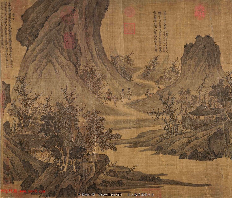 宋代張先82歲創作山水人物畫《十詠圖》