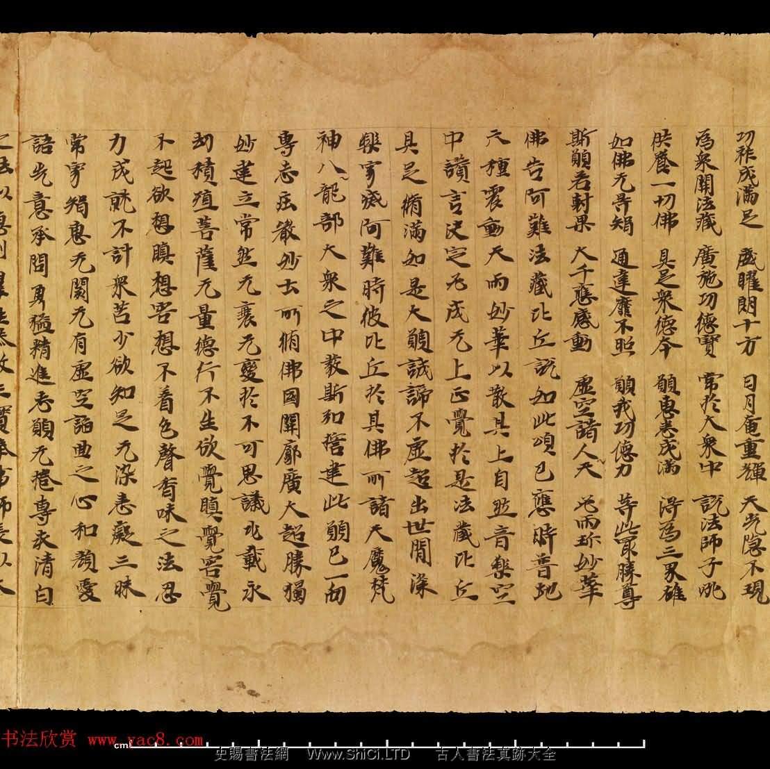 敦煌遺書《無量壽經捲上》日本藏