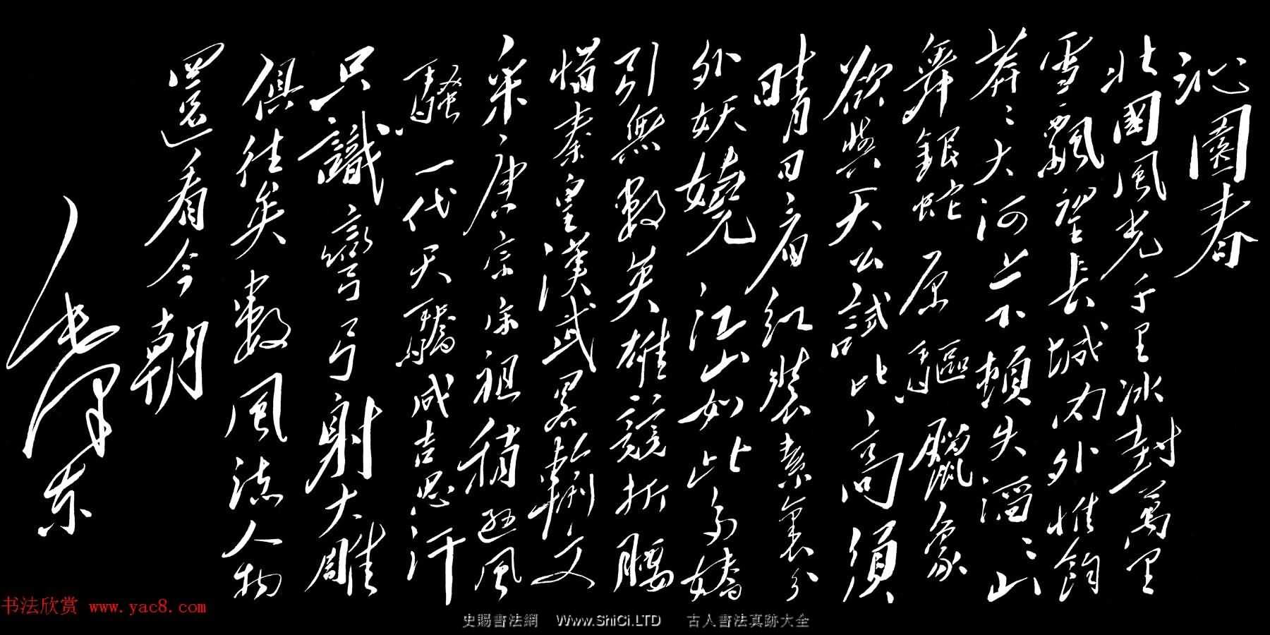 毛澤東行草書法作品《沁園春·雪》