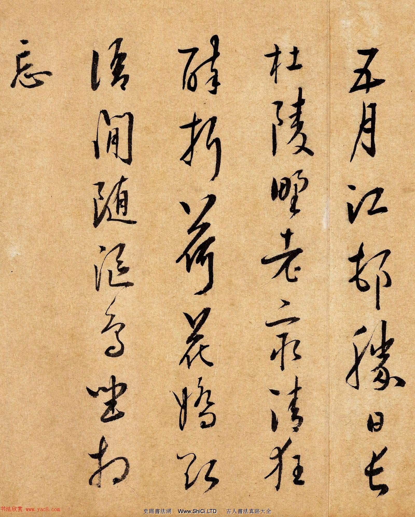 明代王鳳靈書法欣賞《跋湖莊清夏圖卷》