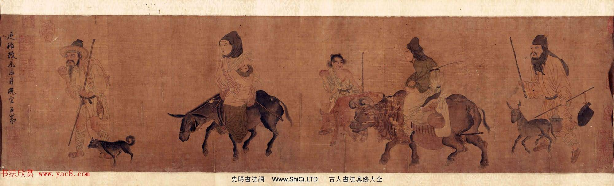 元代趙孟頫款西成歸樂圖卷 美國館藏(共6張圖片)