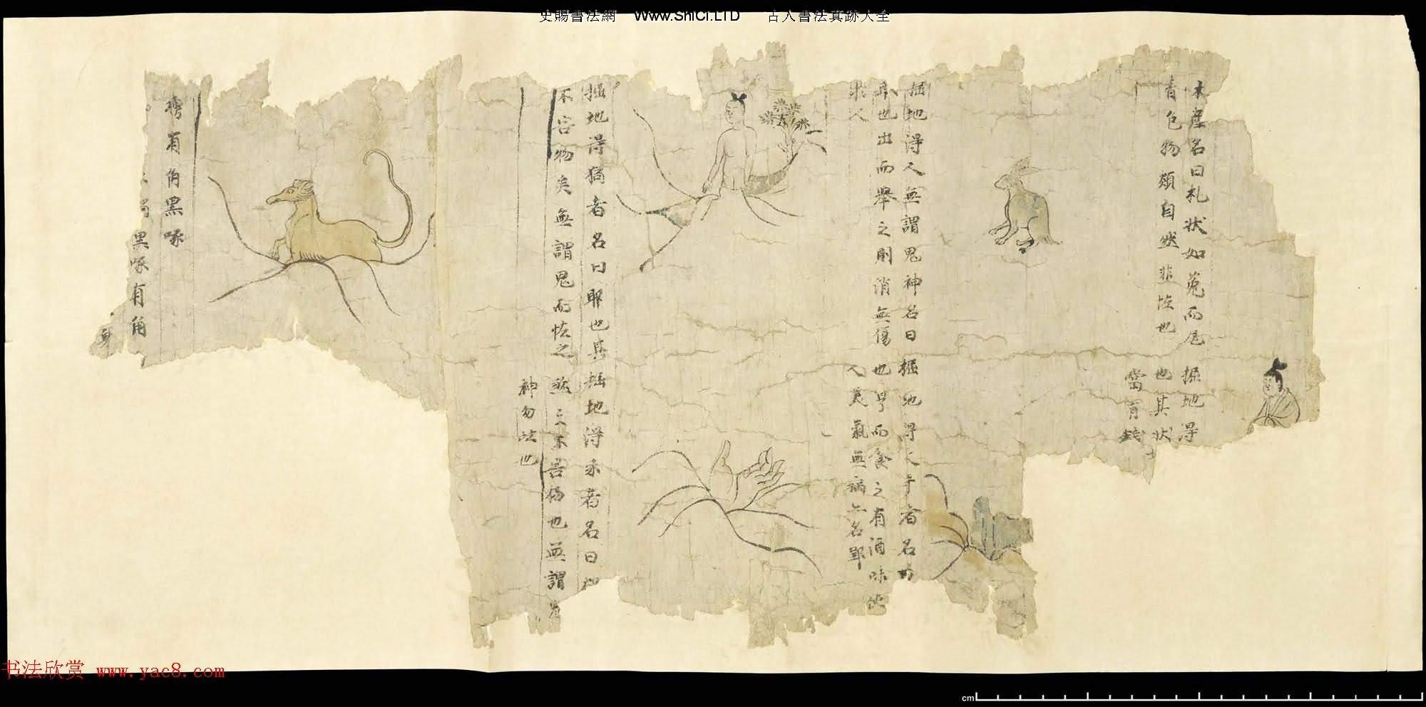 敦煌文獻《白澤精怪圖》兩種圖卷殘本(共20張圖片)