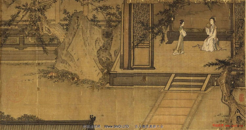 宋高宗楷書《女孝經》馬和之補圖絹本(共36張圖片)