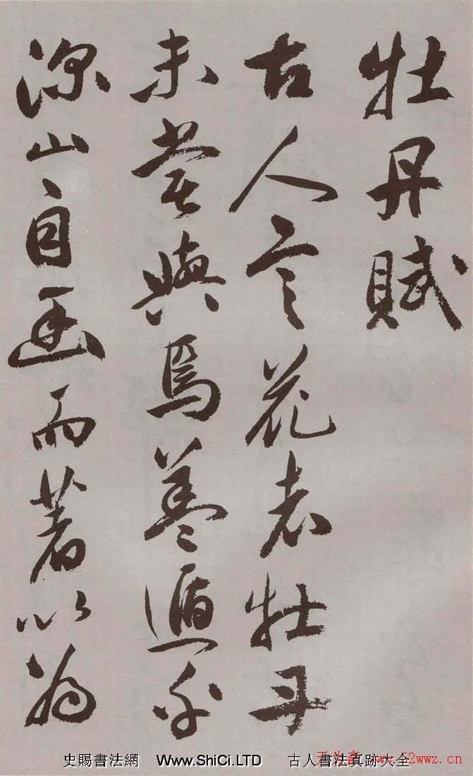 祝允明行草書法字帖《牡丹賦》(共29張圖片)