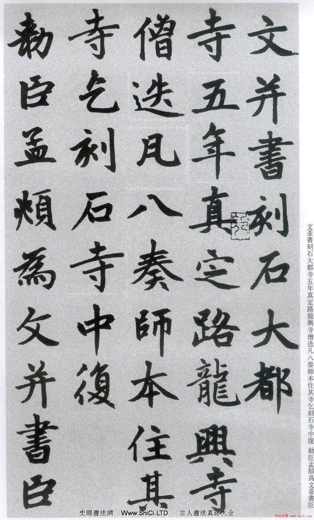 楷書字帖:趙孟俯放大楷書《膽巴碑》