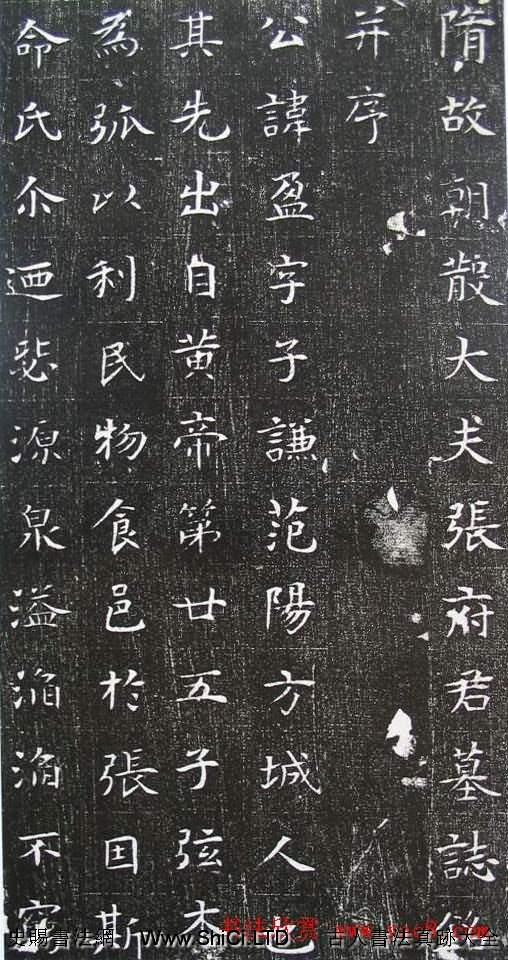 清雅楷法《隋張盈夫婦墓誌》(共16張圖片)