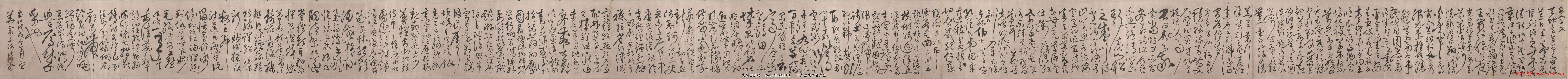 明代書法家張弼草書真跡欣賞《千字文》手卷(共39張圖片)